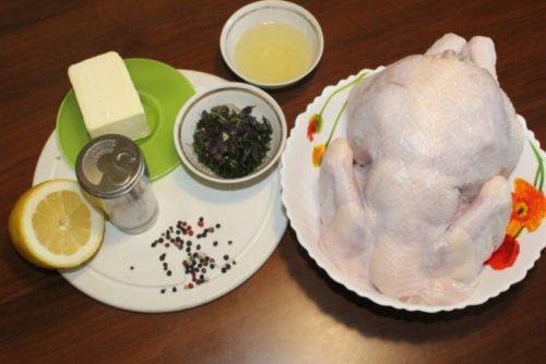 Курица на соли, запеченная в духовке