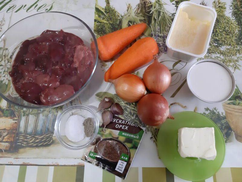Паштет из куриной печени с луком и морковью