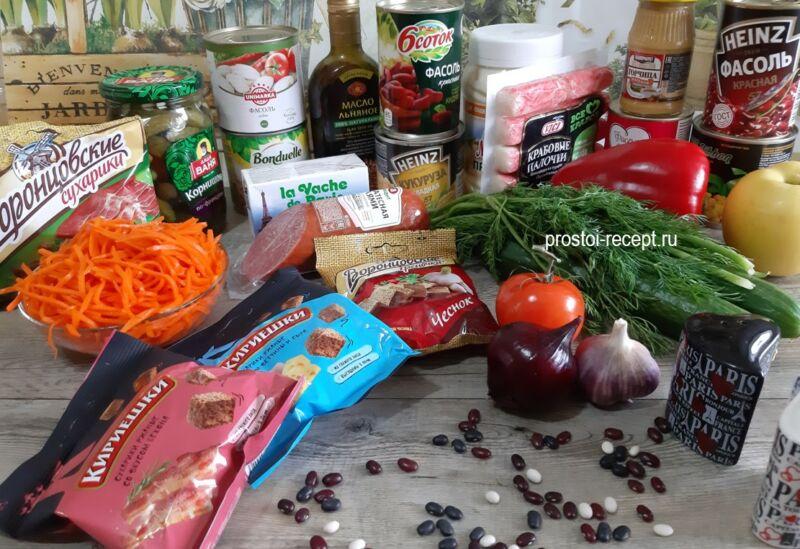 Салат с консервированной фасолью — простые и вкусные рецепты