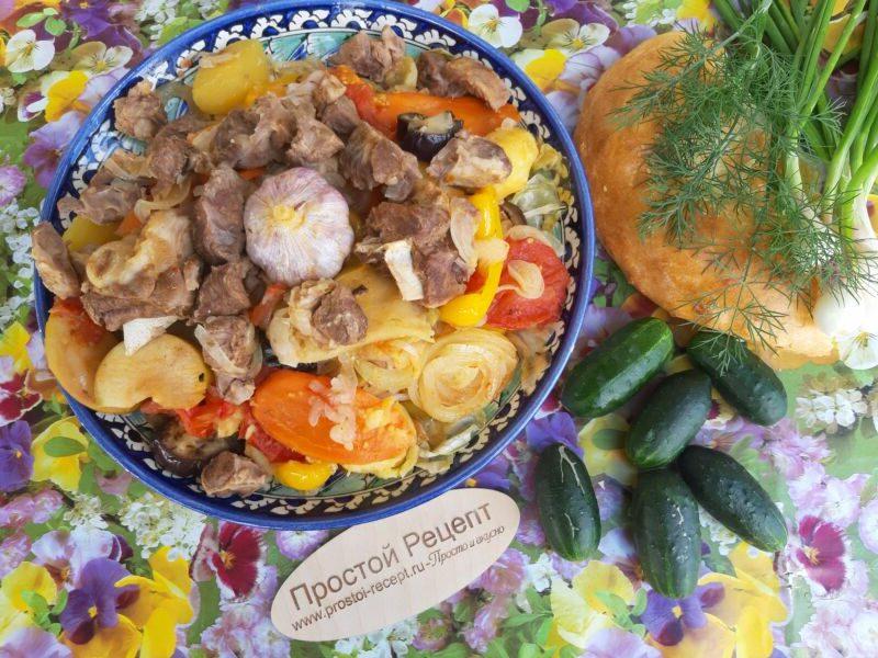 Узбекская басма, рецепт в казане