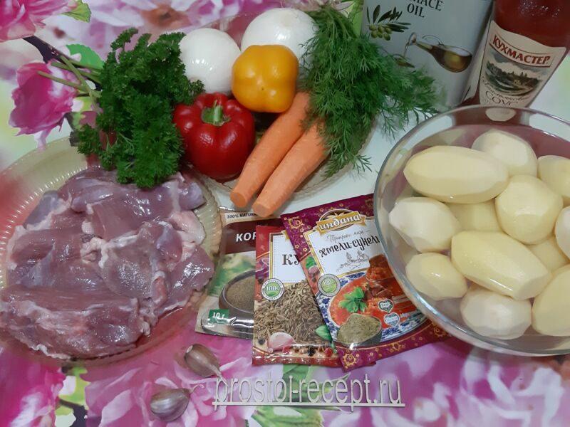 Готовим картошку с мясом в стеклянной посуде в духовке