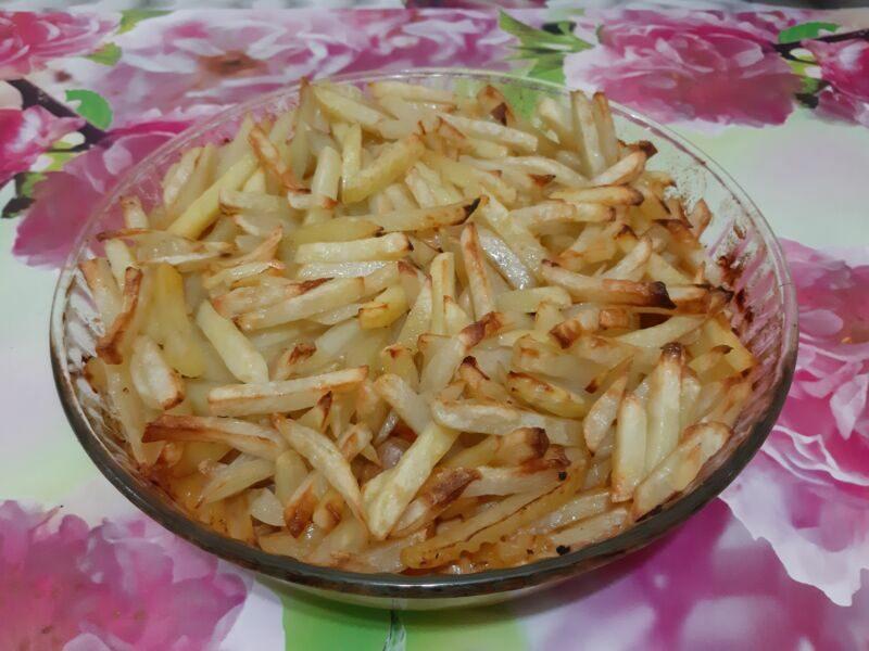 Картошка получится подсушенной