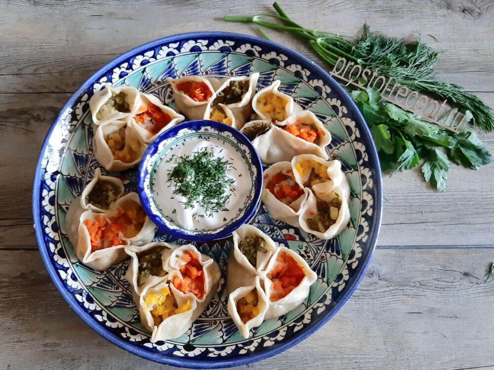 Манты с мясом и картошкой — пошаговый рецепт